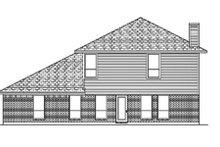 Dream House Plan - Traditional Exterior - Rear Elevation Plan #84-386