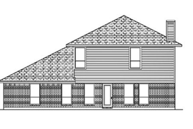 Traditional Exterior - Rear Elevation Plan #84-386 - Houseplans.com