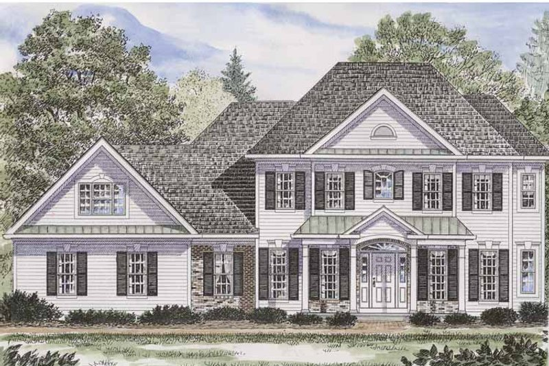 Colonial Exterior - Front Elevation Plan #316-232 - Houseplans.com