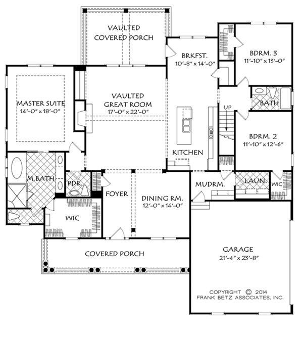 Traditional Floor Plan - Main Floor Plan Plan #927-968
