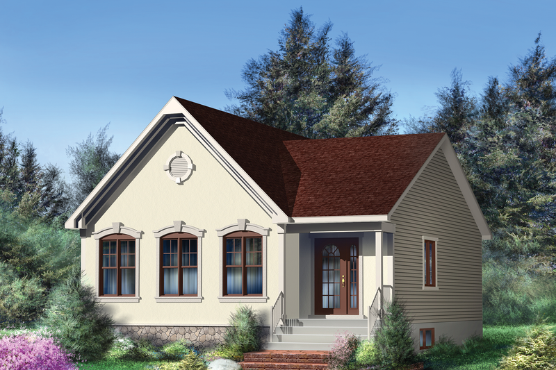 Country Style House Plan - 2 Beds 1 Baths 1056 Sq/Ft Plan #25-4655 Exterior - Front Elevation