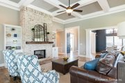 European Style House Plan - 5 Beds 5 Baths 4357 Sq/Ft Plan #929-893 Interior - Family Room