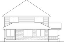 Architectural House Design - Craftsman Exterior - Rear Elevation Plan #569-23