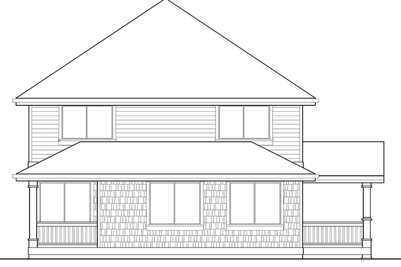 Craftsman Exterior - Rear Elevation Plan #569-23 - Houseplans.com