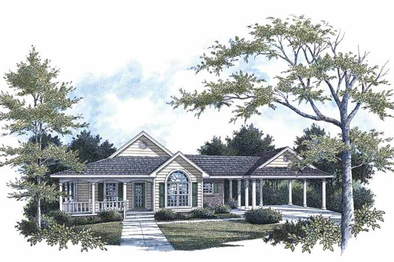 House Plan Design - Traditional Exterior - Front Elevation Plan #14-271