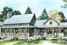 House Plan Design - Country Exterior - Rear Elevation Plan #140-171
