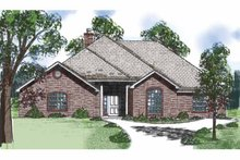 Architectural House Design - Country Exterior - Front Elevation Plan #52-255
