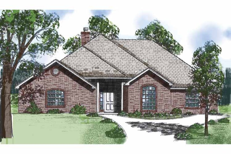 Country Exterior - Front Elevation Plan #52-255 - Houseplans.com