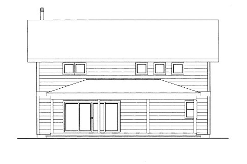 Bungalow Style House Plan - 1 Beds 1 Baths 1162 Sq/Ft Plan #117-674 Exterior - Front Elevation