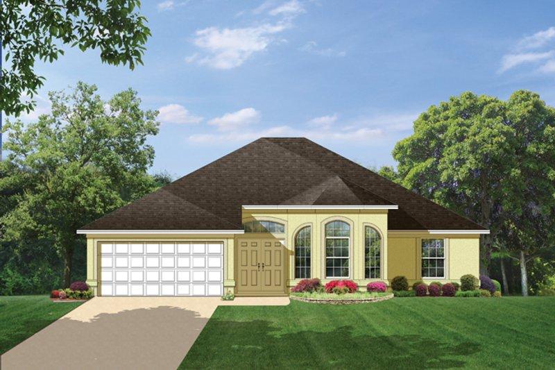 House Plan Design - Mediterranean Exterior - Front Elevation Plan #1058-40