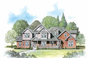 Victorian Exterior - Front Elevation Plan #308-258