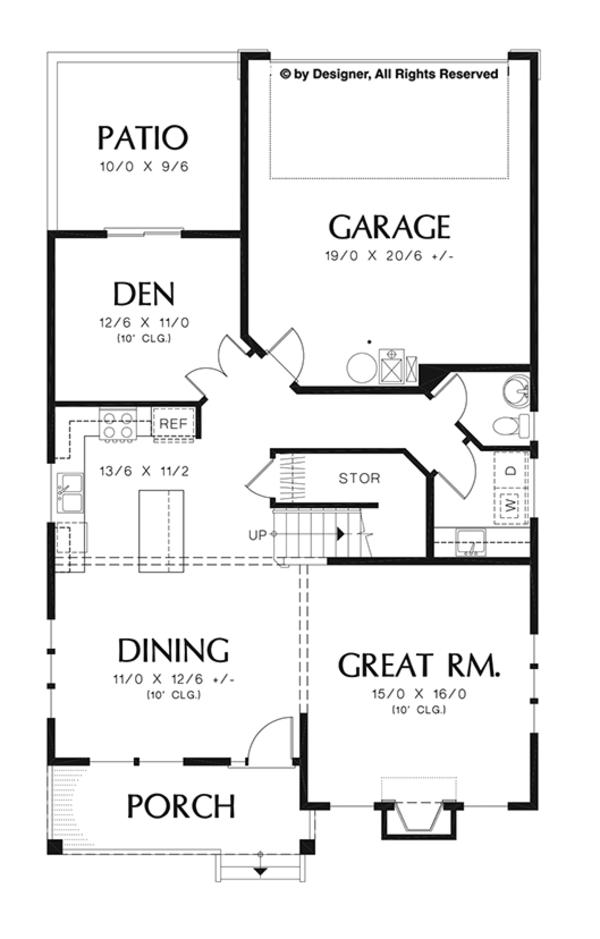 Craftsman Floor Plan - Main Floor Plan Plan #48-920