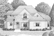 European Style House Plan - 4 Beds 3 Baths 3233 Sq/Ft Plan #413-103 Exterior - Other Elevation
