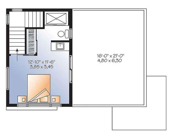 Contemporary Floor Plan - Upper Floor Plan Plan #23-2601