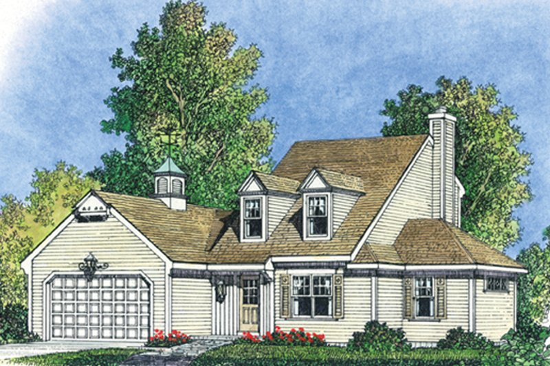 Colonial Exterior - Front Elevation Plan #1016-102