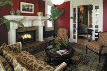 Colonial Interior - Family Room Plan #930-220
