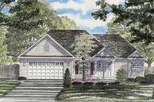 Architectural House Design - Ranch Exterior - Front Elevation Plan #316-243