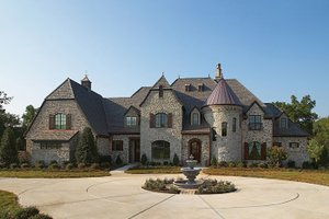 Dream House Plan - European Exterior - Front Elevation Plan #453-49