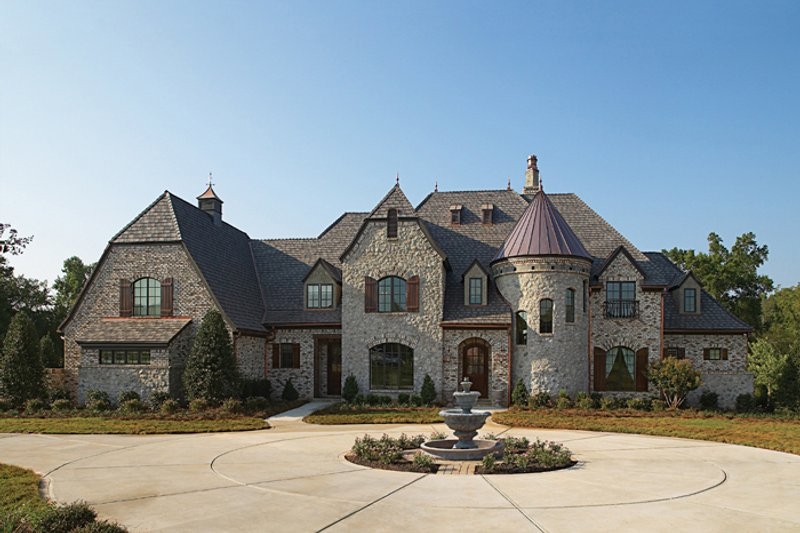 European Exterior - Front Elevation Plan #453-49 - Houseplans.com