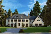 European Style House Plan - 5 Beds 5.5 Baths 5813 Sq/Ft Plan #923-185 Exterior - Front Elevation