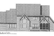 European Style House Plan - 4 Beds 3.5 Baths 3468 Sq/Ft Plan #70-518 Exterior - Rear Elevation