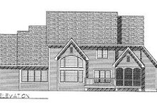 European Exterior - Rear Elevation Plan #70-518