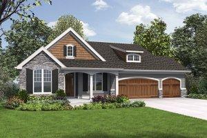 Cottage Exterior - Front Elevation Plan #48-969