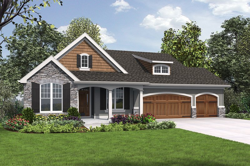 Dream House Plan - Cottage Exterior - Front Elevation Plan #48-969