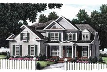 Colonial Exterior - Front Elevation Plan #927-797