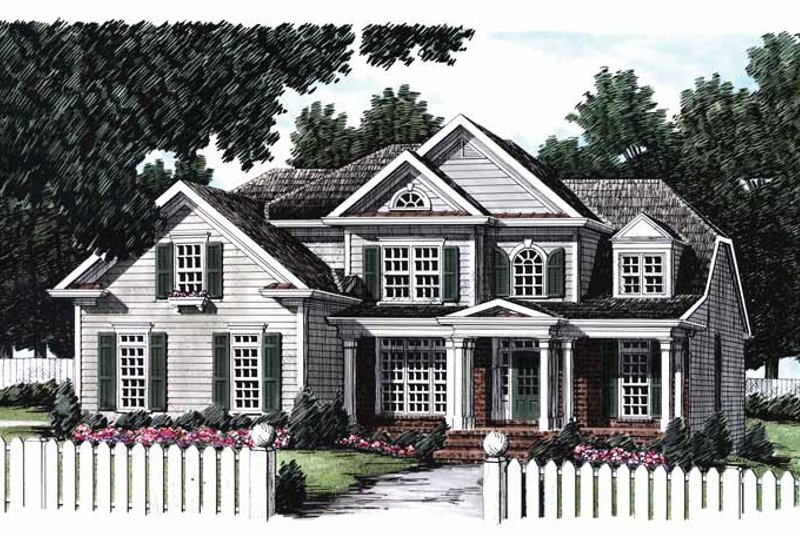 House Plan Design - Colonial Exterior - Front Elevation Plan #927-797