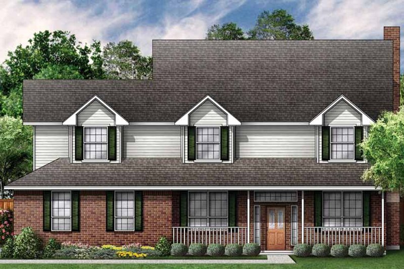 Country Exterior - Front Elevation Plan #84-699 - Houseplans.com