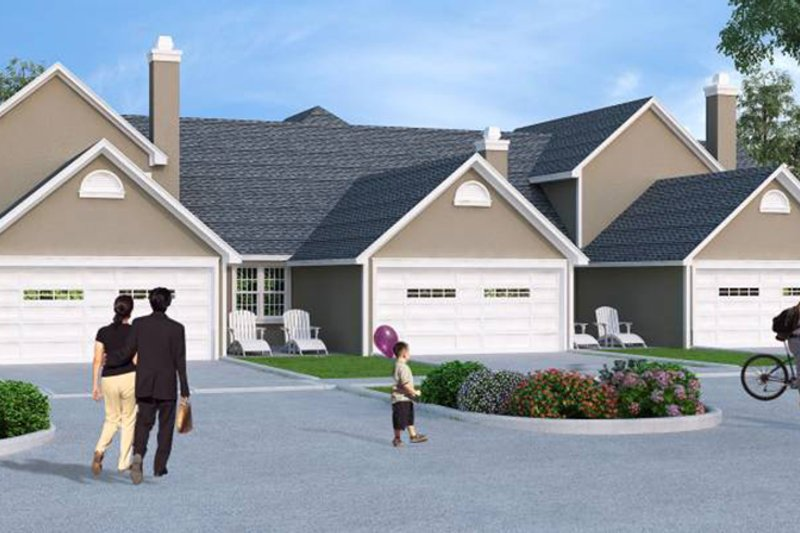 Traditional Exterior - Rear Elevation Plan #45-452 - Houseplans.com