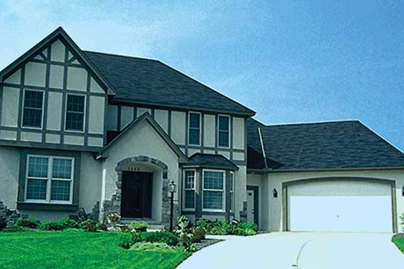 Dream House Plan - Tudor Exterior - Front Elevation Plan #51-839