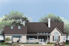 Home Plan - Country Exterior - Rear Elevation Plan #929-790