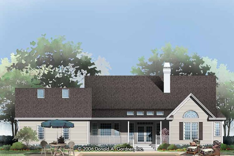 Country Exterior - Rear Elevation Plan #929-790 - Houseplans.com