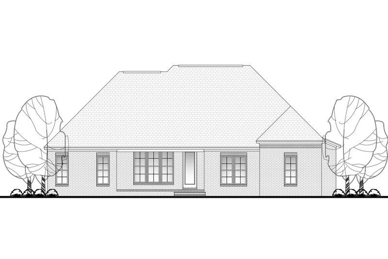 European Exterior - Rear Elevation Plan #430-101 - Houseplans.com