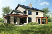 Modern Style House Plan - 4 Beds 2 Baths 1944 Sq/Ft Plan #23-2308 Exterior - Rear Elevation