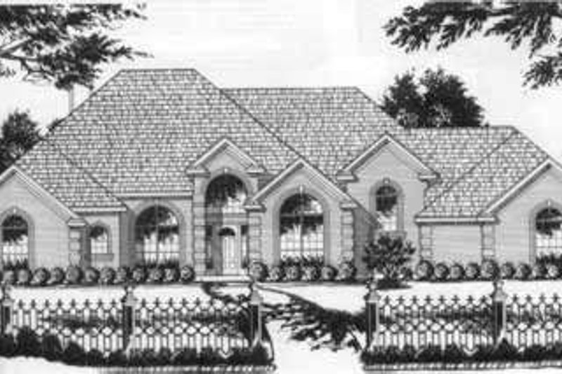 European Exterior - Front Elevation Plan #40-368