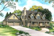 Country Style House Plan - 4 Beds 3.5 Baths 2997 Sq/Ft Plan #140-117 Exterior - Front Elevation