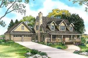 Country Exterior - Front Elevation Plan #140-117
