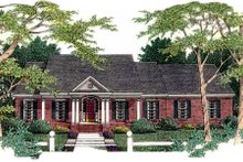 Southern Exterior - Front Elevation Plan #406-196