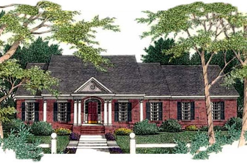 Home Plan - Southern Exterior - Front Elevation Plan #406-196