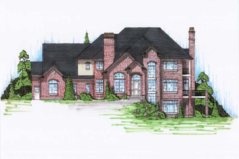 House Plan Design - Traditional Exterior - Front Elevation Plan #5-438