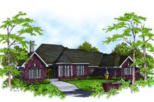 Dream House Plan - European Exterior - Front Elevation Plan #70-417