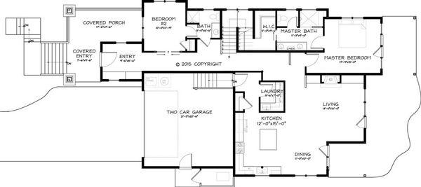 Craftsman Floor Plan - Main Floor Plan Plan #895-44