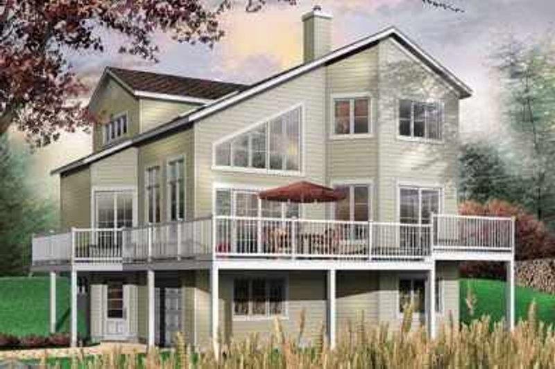 Modern Exterior - Front Elevation Plan #23-423 - Houseplans.com