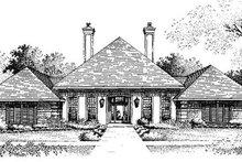 Home Plan - European Exterior - Front Elevation Plan #320-391
