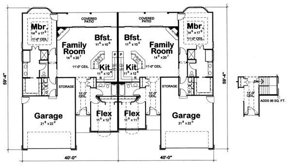 Dream House Plan - Traditional Floor Plan - Main Floor Plan #20-2063
