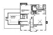 Colonial Style House Plan - 4 Beds 3 Baths 2104 Sq/Ft Plan #30-206 Floor Plan - Upper Floor Plan
