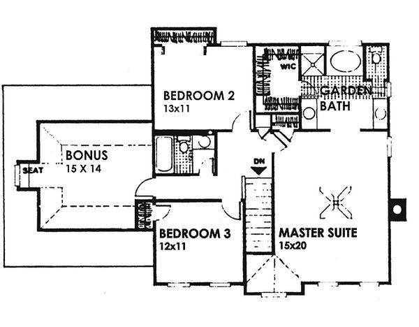 Colonial Floor Plan - Upper Floor Plan Plan #30-206